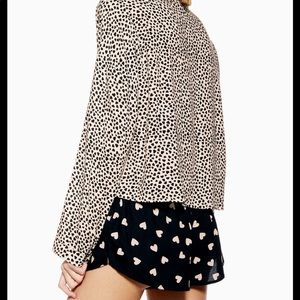 Topshop heart print pajama set